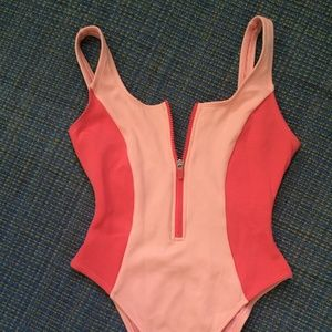 One-Piece Swimsuit with Front Zip